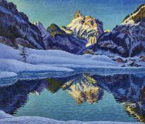 """FINK, WALDEMAR THEOPHIL: """"Wintermorgen bei Kandersteg""""."""