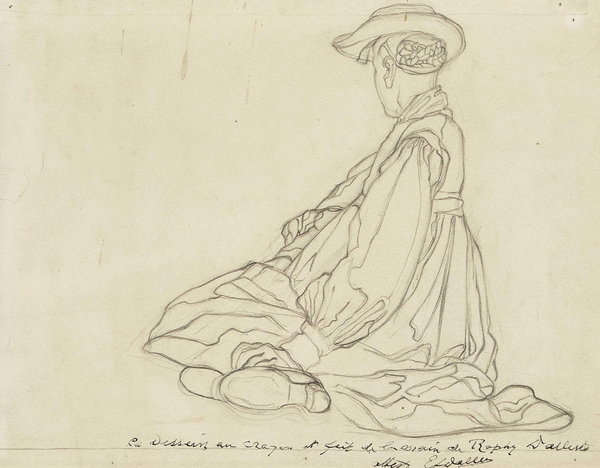 DALLÈVES, RAPHY: Jeune bérémensarde assise.