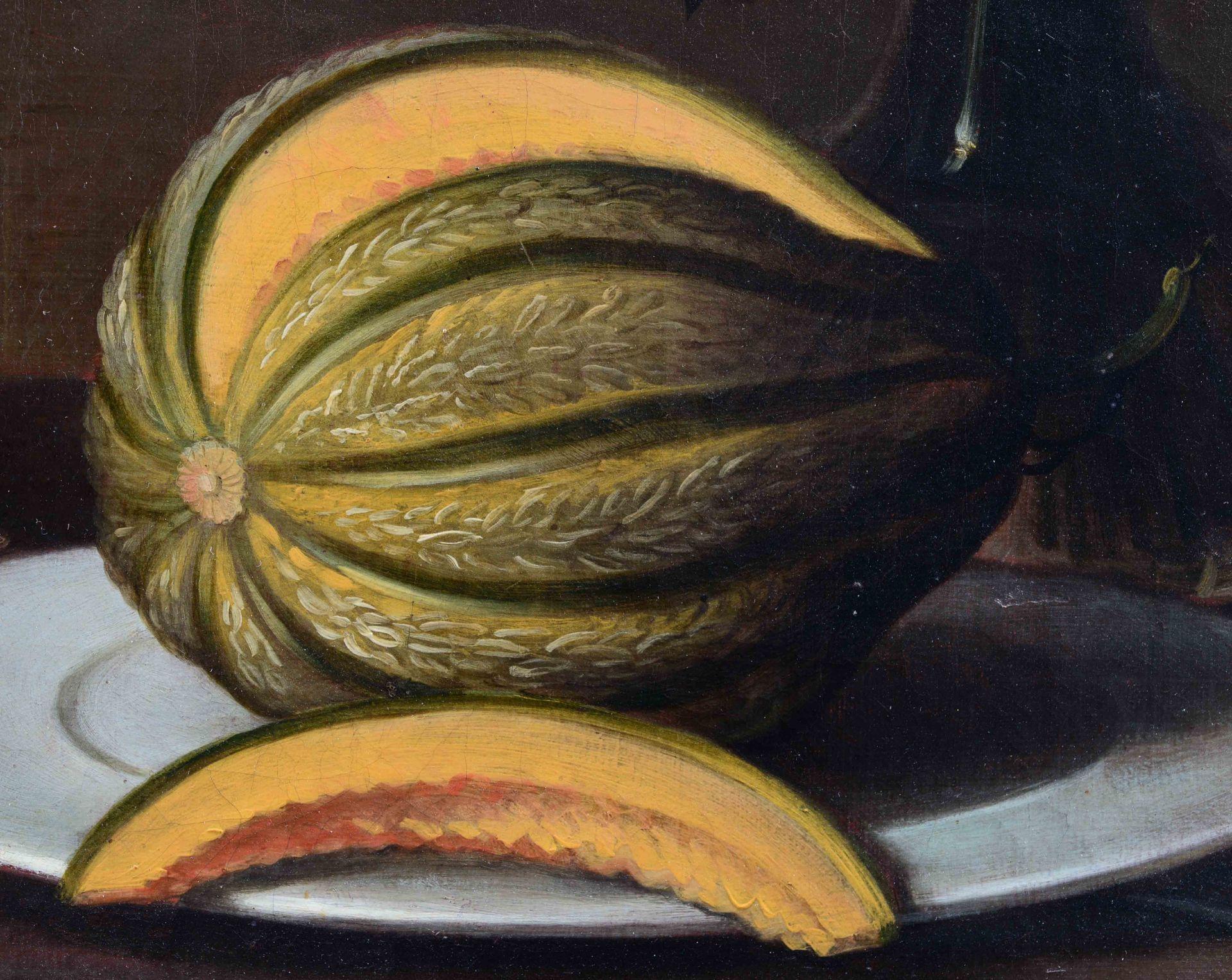 DÜNZ, JOHANNES: Herbstliches Stillleben mit Früchten und Blumenbouquet. - Image 6 of 11