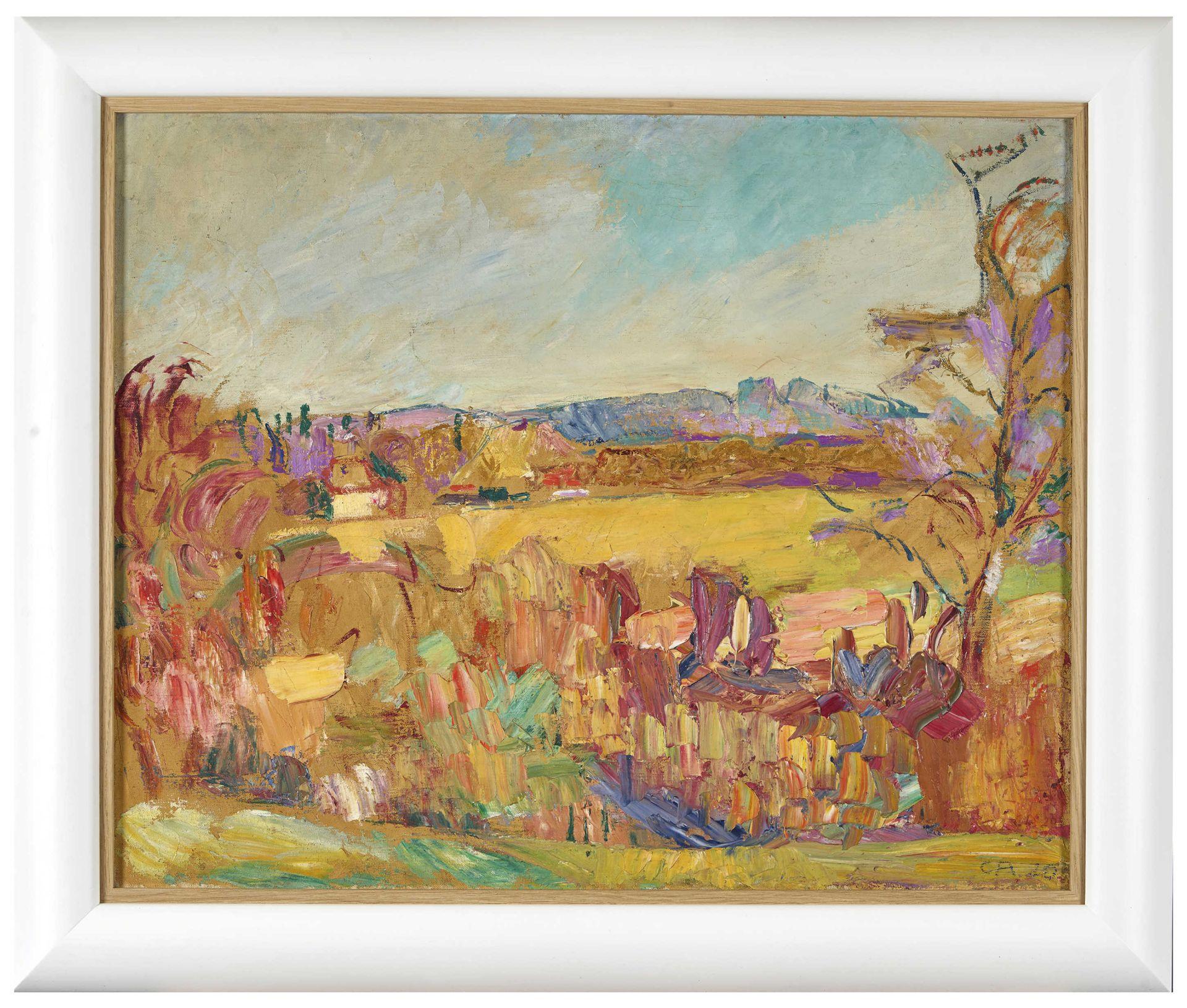"""AMIET, CUNO: """"Gelbe Landschaft"""". - Image 3 of 4"""