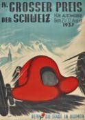 """THÖNI, HANS: """"IV. Grosser Preis der Schweiz für Automobile Bern 1937""""."""