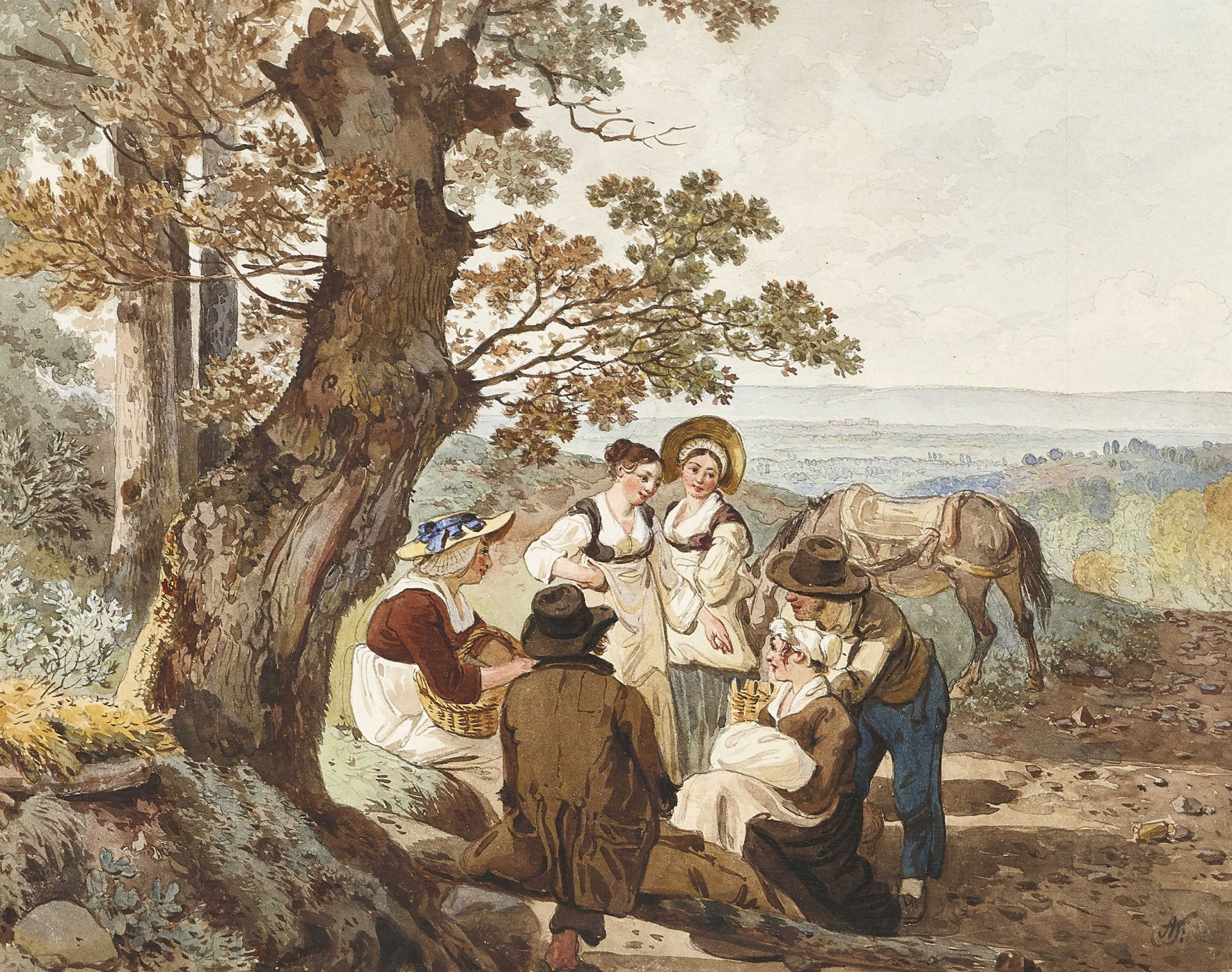 TÖPFFER, WOLFGANG ADAM: Rastende Bauern.