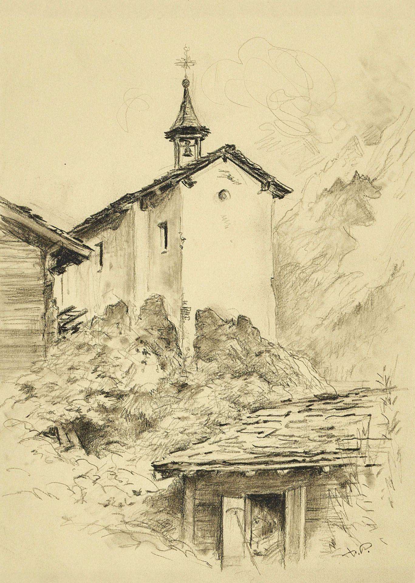 PORET, XAVIER DE: Die Kapelle in Eisten im Loetschental.