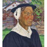 DALLÈVES, RAPHY: Portrait d'une valaisanne.