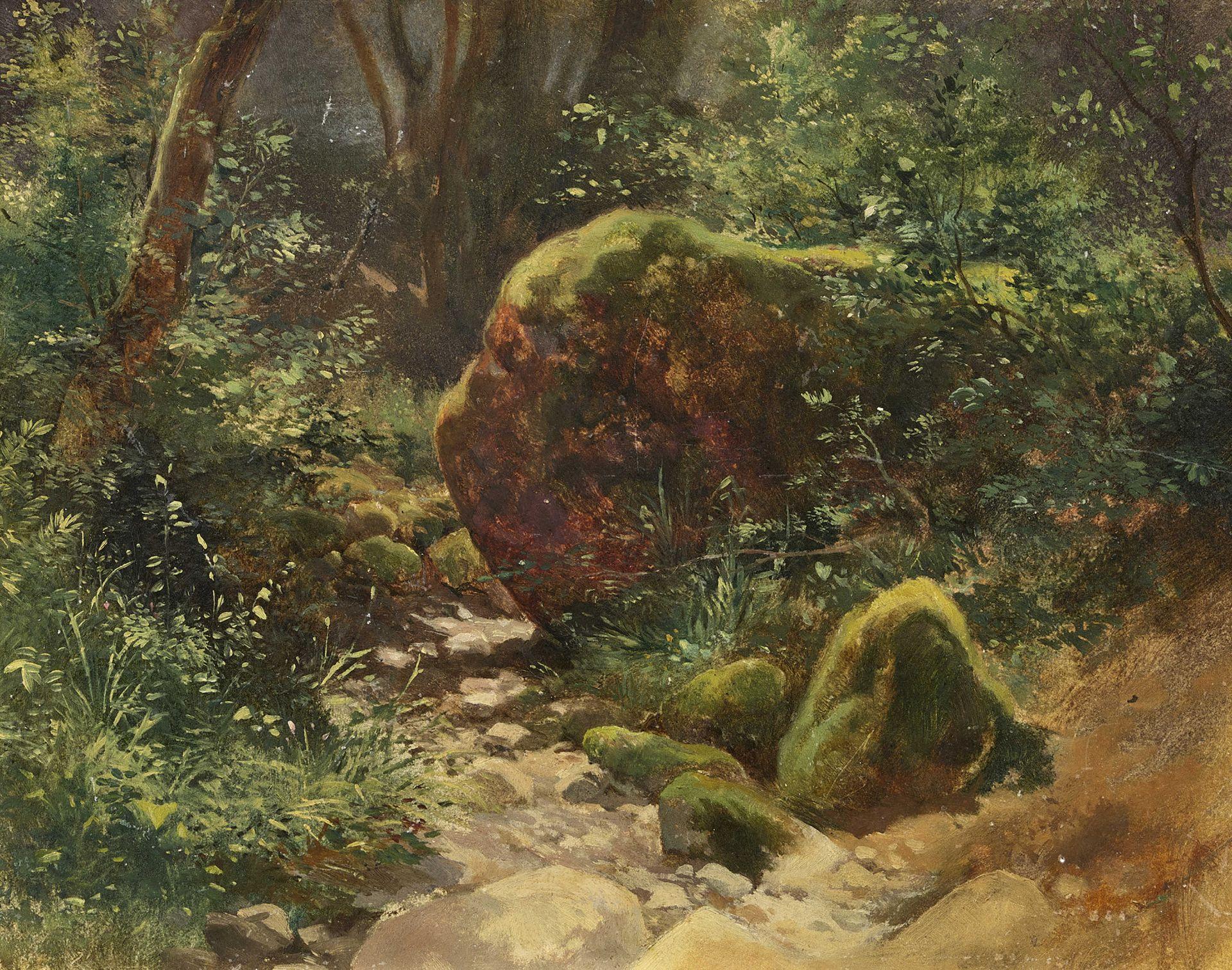 CALAME, ALEXANDRE: Rochers dans un bois.