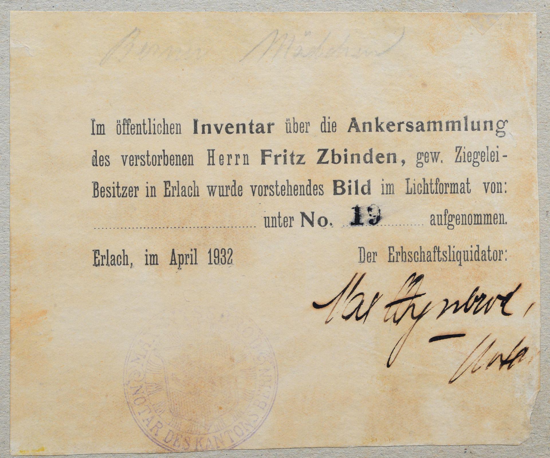 """ANKER, ALBERT: """"Berner Mädchen"""". - Image 6 of 7"""