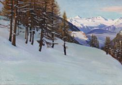 GIANOLI, LOUIS CAMILLE: Winterliche Berglandschaft.