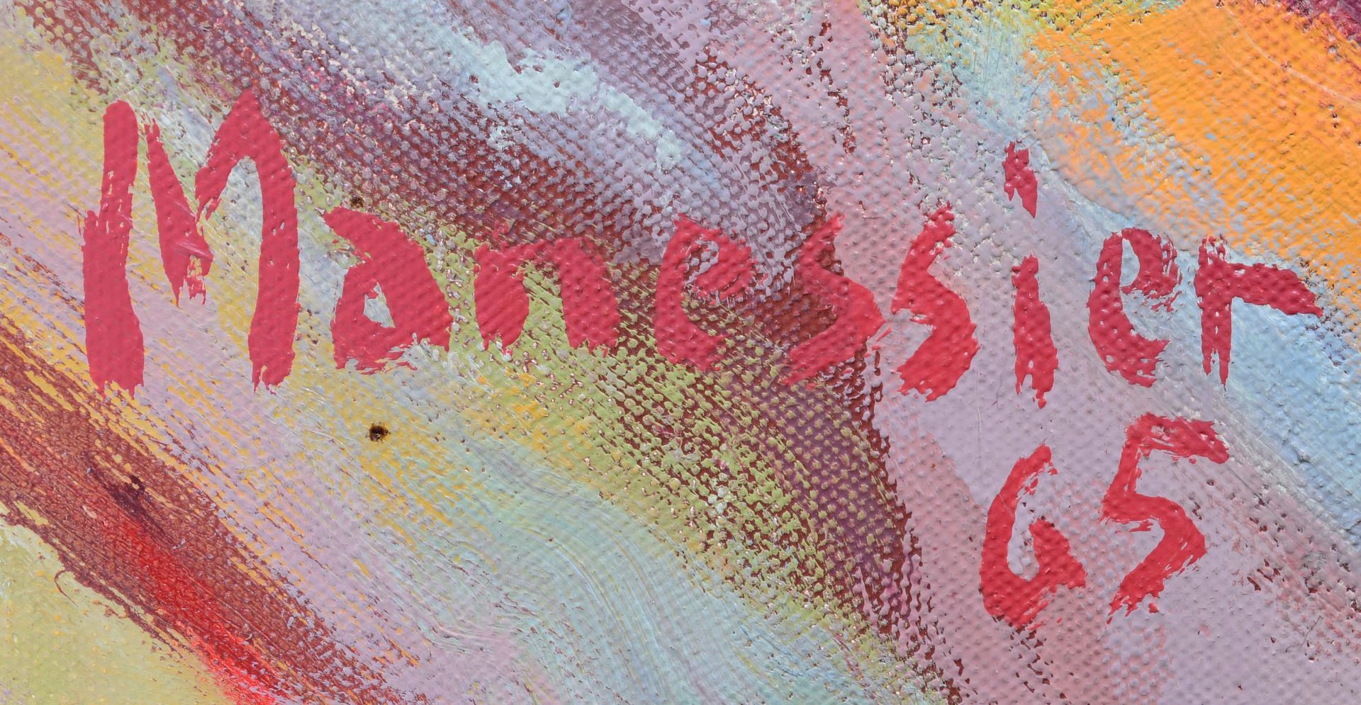 """MANESSIER, ALFRED: """"Paysage Flamboyant"""". - Image 4 of 8"""