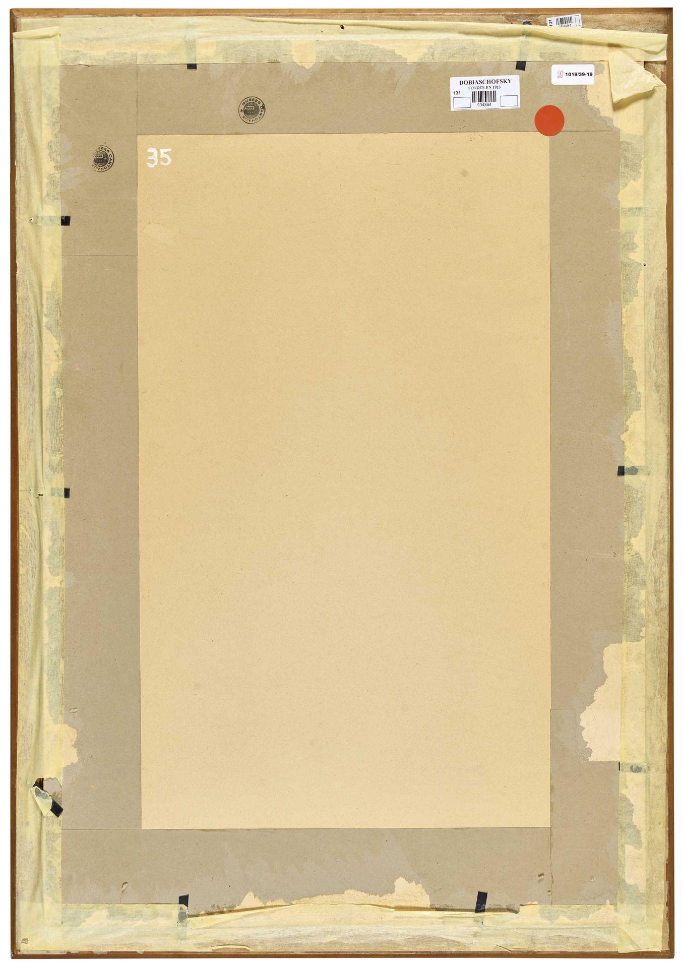 "DALLÈVES, RAPHY: Figurenstudie zu ""Après l'office (Hérémence)"". - Image 3 of 4"