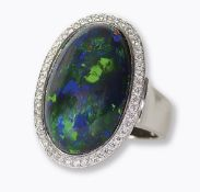 OPAL-DIAMANT-RING: