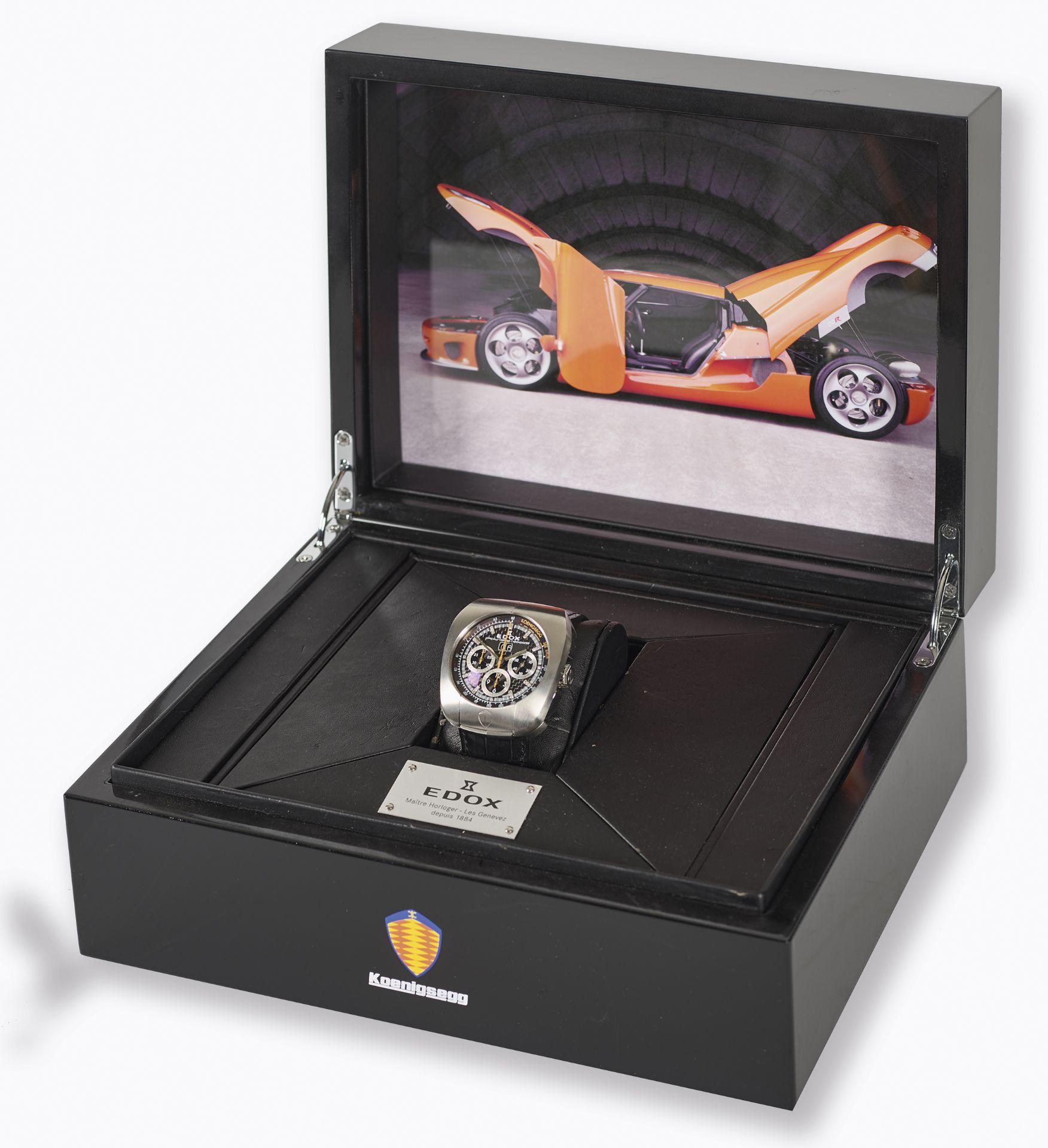 """EDOX: Herrenarmbanduhr """"Koenigsegg Titan Chronometer"""". - Image 2 of 3"""