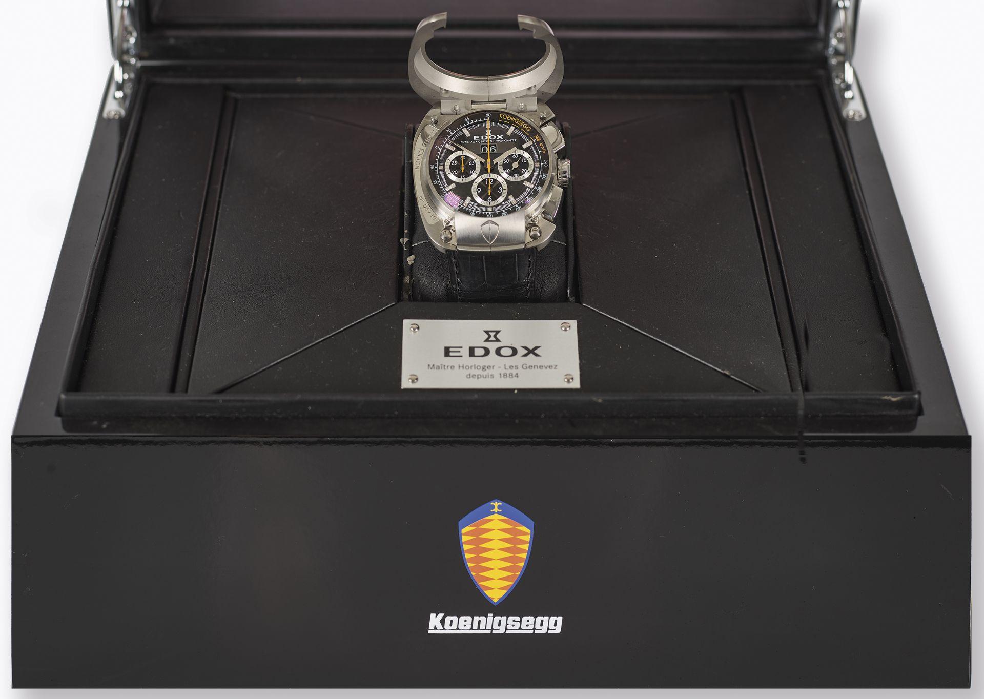"""EDOX: Herrenarmbanduhr """"Koenigsegg Titan Chronometer"""". - Image 3 of 3"""