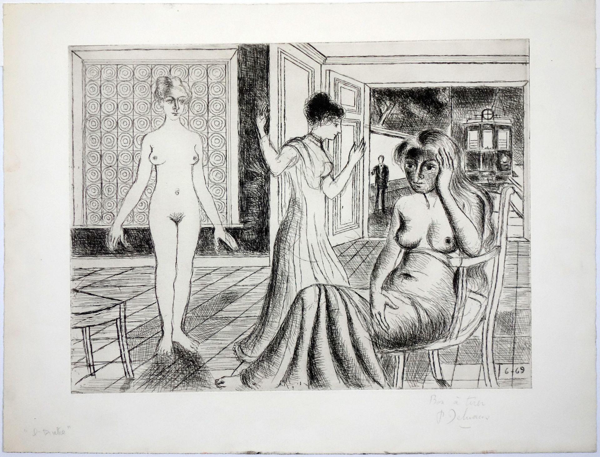 Paul Delvaux (1897–1994) La chambre (1969) - Bild 2 aus 4