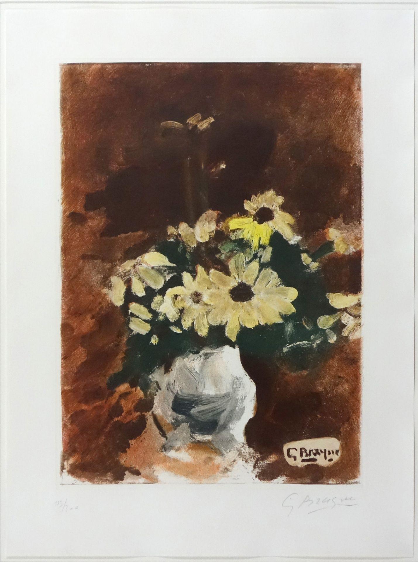 Georges Braque (1882–1963) Vase de fleurs jaunes (1950)