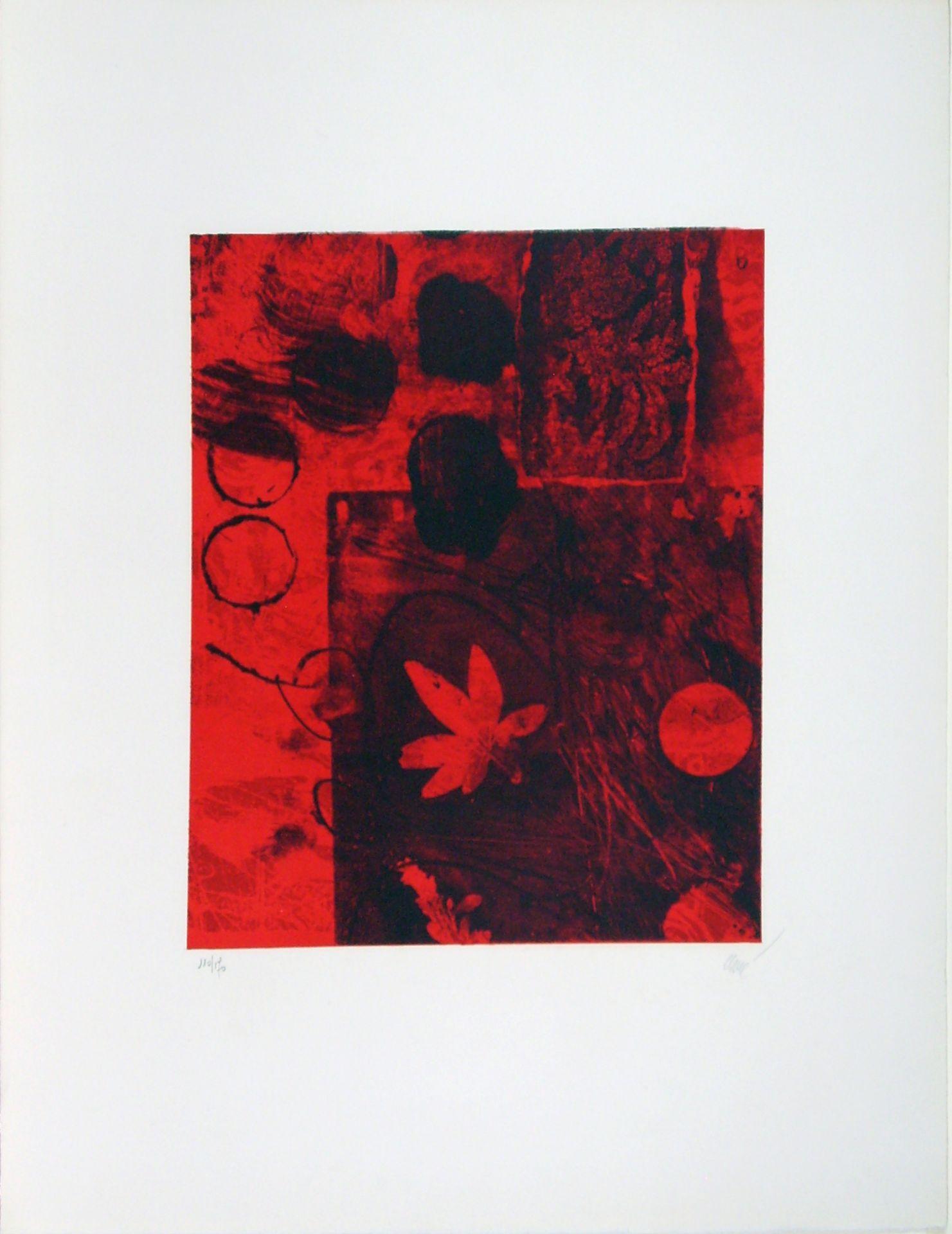 Antoni Clavé (1913–2005) Rotes Blatt (1975)