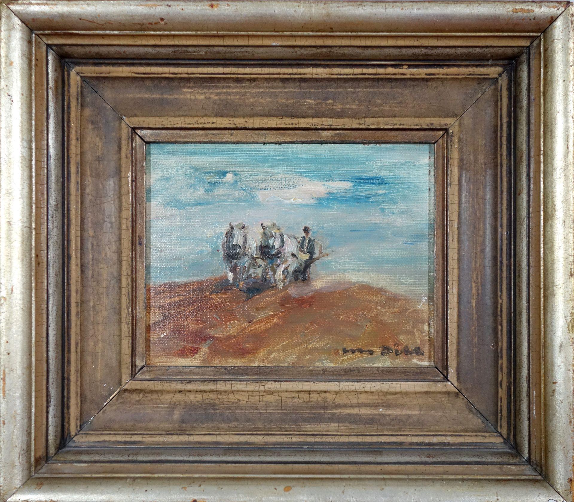 Otto Dill (1884–1957) Bauer mit Pferden beim pflügen - Bild 2 aus 3