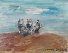 Otto Dill (1884–1957) Bauer mit Pferden beim pflügen