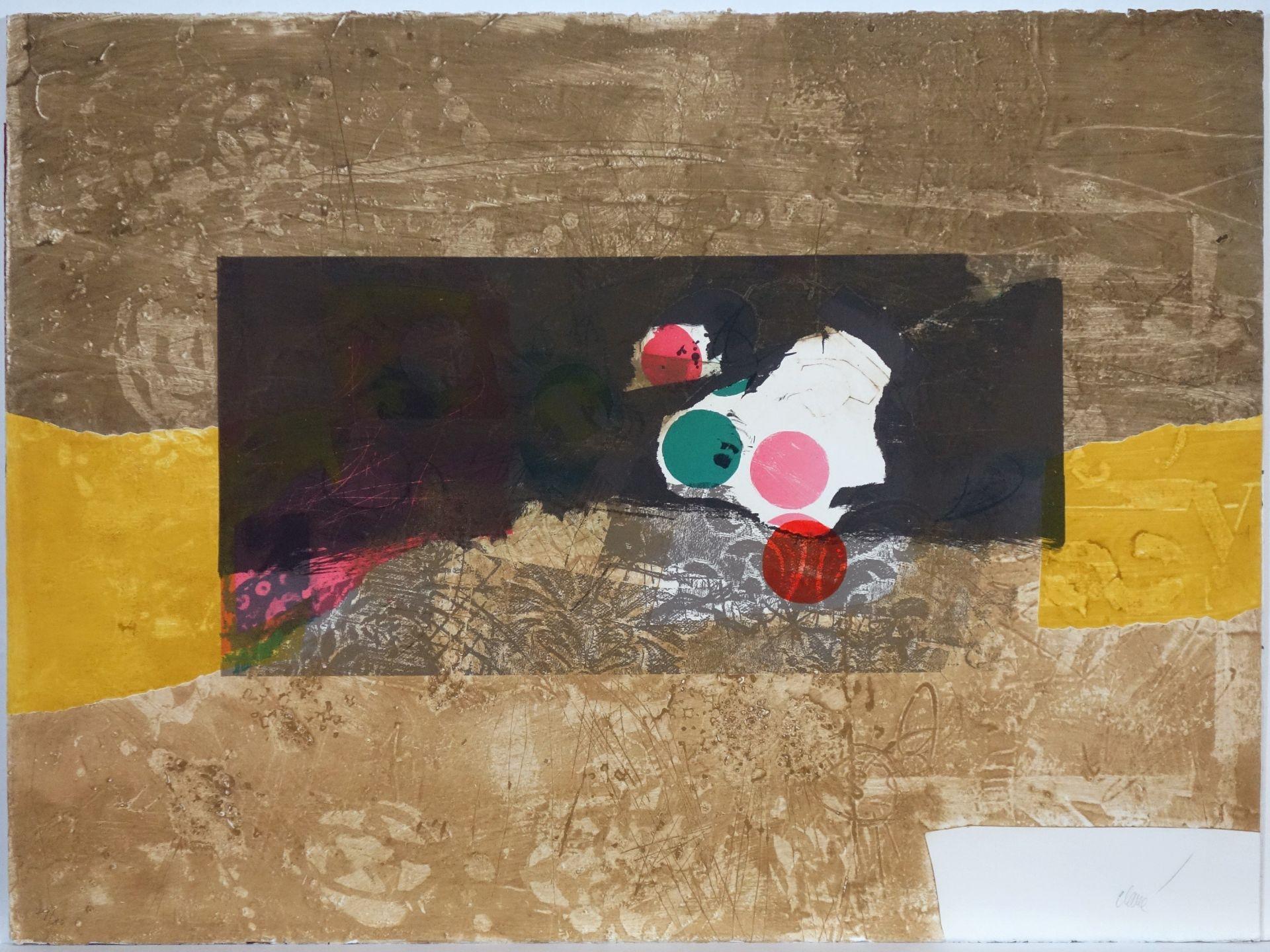 Antoni Clavé (1913–2005) Points rouge et vert (1973)
