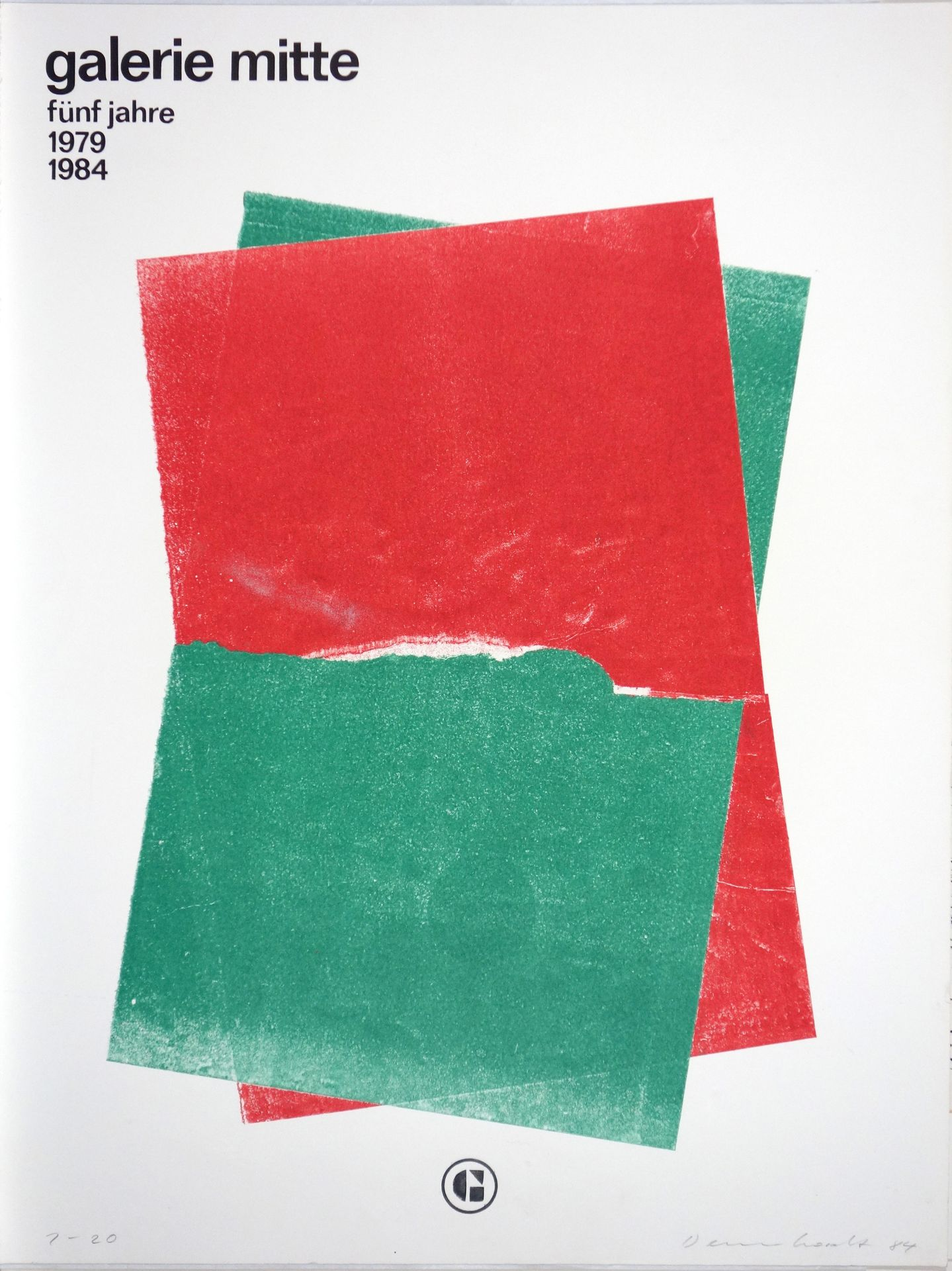 Klaus Dennhardt (*1941) galerie mitte fünf jahre 1979 - 1984 (1984)