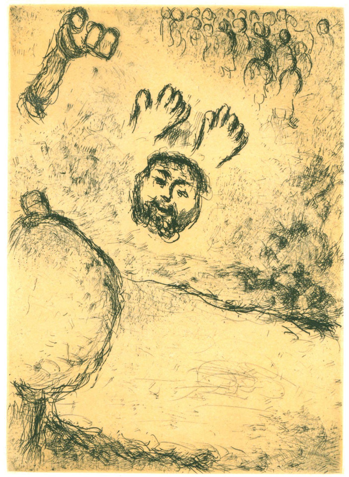 "Marc Chagall (1887–1985) Blatt aus: ""Psaumes de David"" (1979)"
