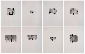 "Serie von 8 RadierungenEduardo Chillida 1924 San Sebastián - 2002 San Sebastián ""Aus: Joan Brossa, A"