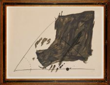 "Lithographie Antoni Tàpies1923 Barcelona - 2012 Barcelona ""Angle et taches"" 1968 u. re. sign."