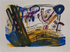 """Farblithographie Walter Stöhrer1937 Stuttgart - 2000 Taarstedt """"Mara IV"""" u. re. sign. Stöhrer im"""
