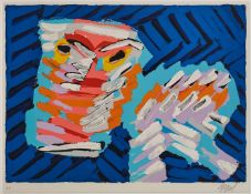 "Farblithographie Karel Appel1921 Amsterdam - 2006 Zürich ""Aus: Cats"" 1978 u. re. sign. Appel u."