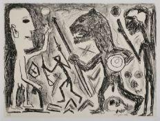 """Lithographie a.r. penck1939 Dresden - 2017 Zürich """"o.T."""" u. re. sign. a.r. penck Exemplar 5/8, 56,"""