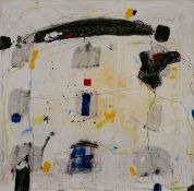 """Gemälde Detlef Sendzik1946 Braunschweig - 2013 """"o.T."""" u. re. sign. Sendzig Acryl/ Bleistift auf Lwd."""