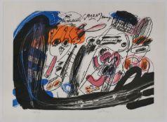 """Farblithographie Walter Stöhrer1937 Stuttgart - 2000 Taarstedt """"Mara III"""" 1972/74 u. re. sign."""