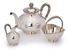 3-tlg. Tee-Kernstück, Schwäbisch Gmünd