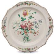 Gr. Platte mit Blumenbouquet, wohl