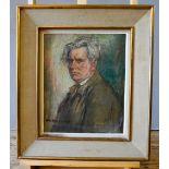 MARIUS CHARLES CHAMBON (1876-1962) SELF PORTRAIT oil on board signed lower left, framed 46cm high, 3