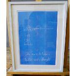 MARKUS VATER 'THE RACE', 2014, STUDIO VOLTAIRE EDITION LITHOGRAPH 24/80 (28cm wide, 42cm high)