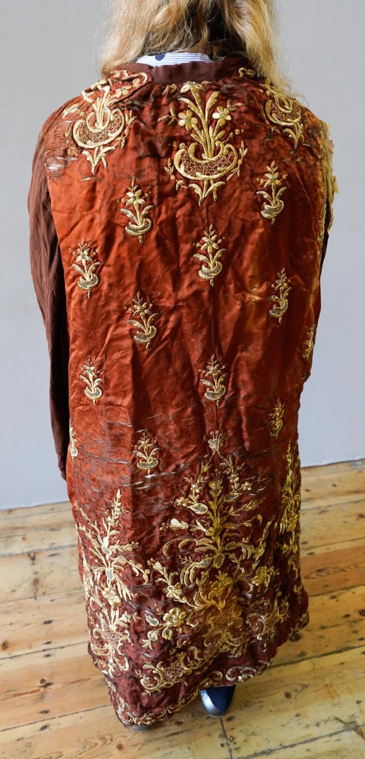 TURKISH 'GOLD' THREAD SILK COAT 18TH / 19TH CENTURY WITH ALTERATIONS bears Marguerite Mangin, Bond S - Image 2 of 2