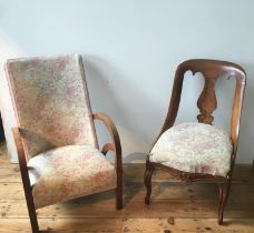 ART DECO CHAIR AND BEDROOM CHAIR