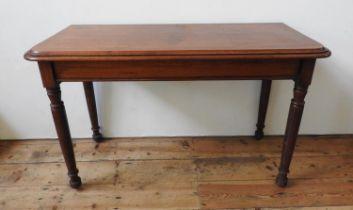 VICTORIAN MAHOGANY TURNED LEG CONSOLE TABLE 80cm high x 127cm wide x 52cm deep