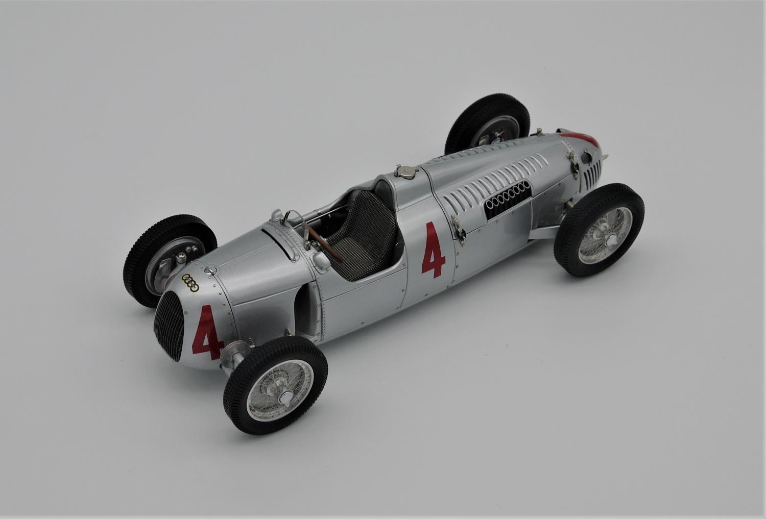 CMC MODELS 1:18 SCALE MODEL OF THE 1936 AUTO UNION TYP C NUMBER 4 (reference M073) as driven to