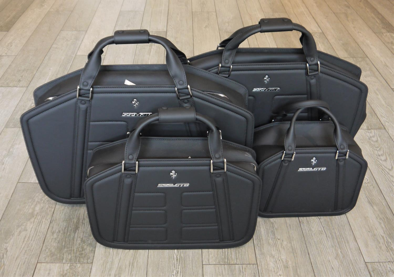 FERRARI 599GTB LUGGAGE SET BY SCHEDONI a beautiful four piece luggage by Schedoni for the Ferrari