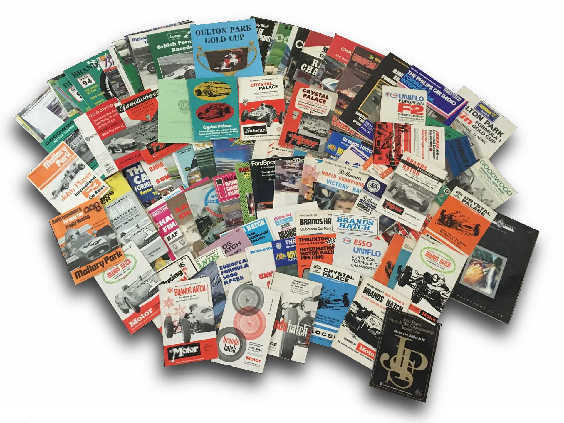 COLLECTION OF MOTOR RACE PROGRAMS c.50 examples of various motorsport race programs through the