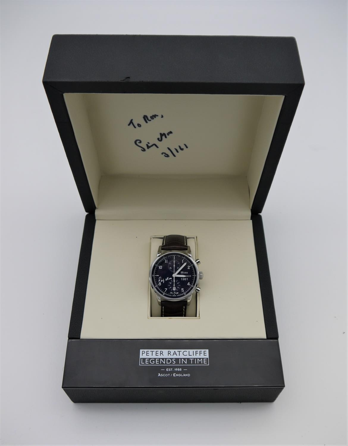 MOSS MONACO, 1961 WATCH - BY LEGENDS IN TIME, created to celebrate Stirling Moss winning the