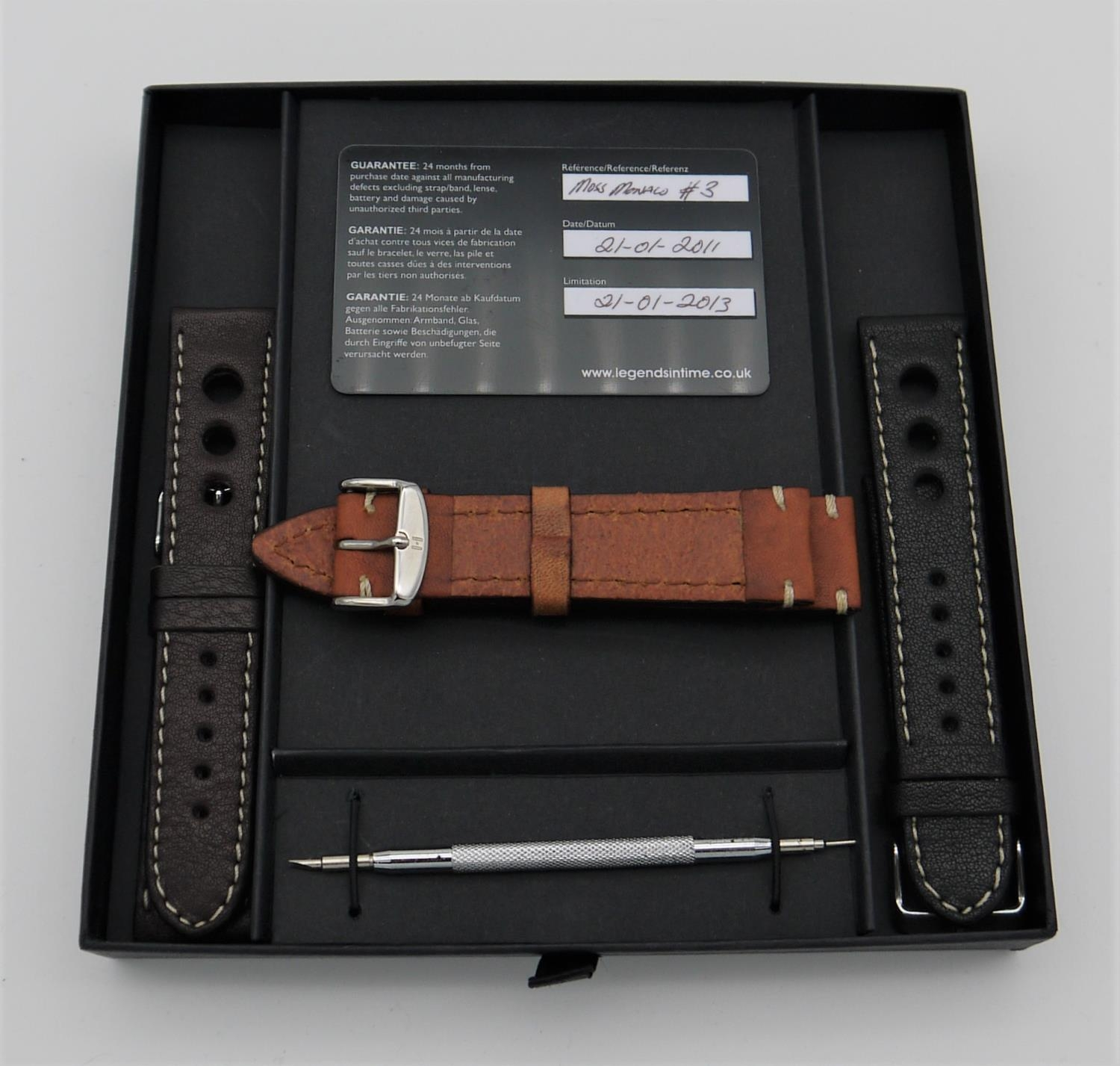 MOSS MONACO, 1961 WATCH - BY LEGENDS IN TIME, created to celebrate Stirling Moss winning the - Image 2 of 3
