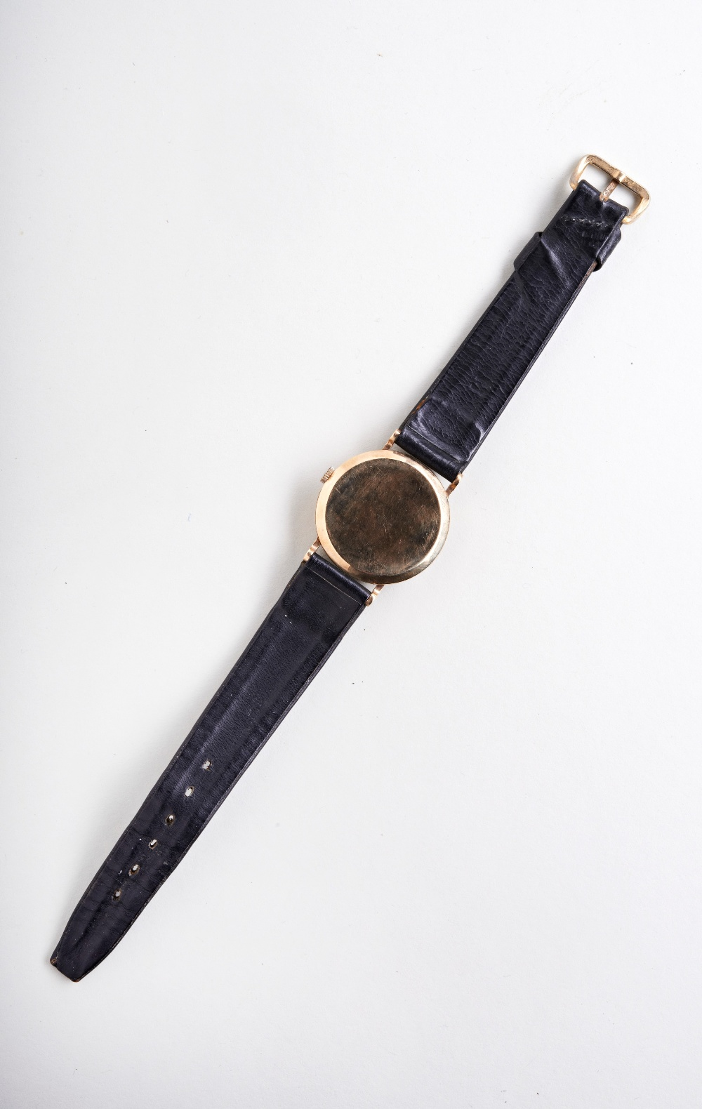 VERTEX 9CT MAN'S DRESS WATCH, c1960, with Arabic numerals and later leather strap. PROVENANCE: The - Image 3 of 3