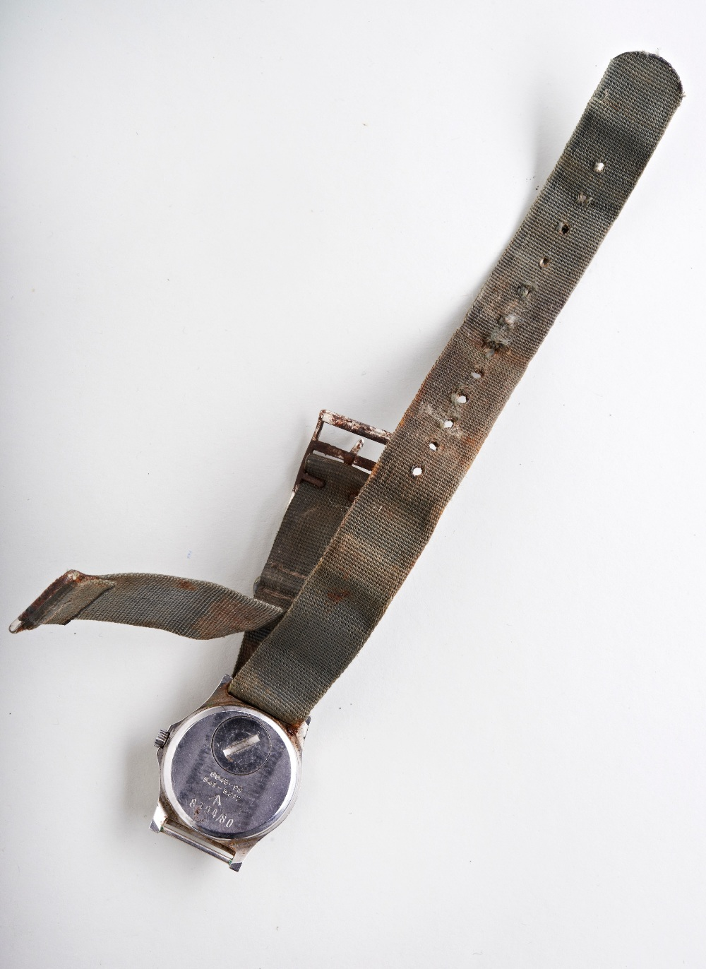 CWC 'FATBOY' MILITARY QUARTZ WATCH, c1980, with tritium dial, case backstamps with arrow and 6645-99 - Image 3 of 3