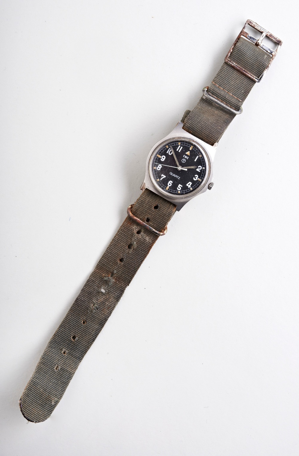 CWC 'FATBOY' MILITARY QUARTZ WATCH, c1980, with tritium dial, case backstamps with arrow and 6645-99 - Image 2 of 3
