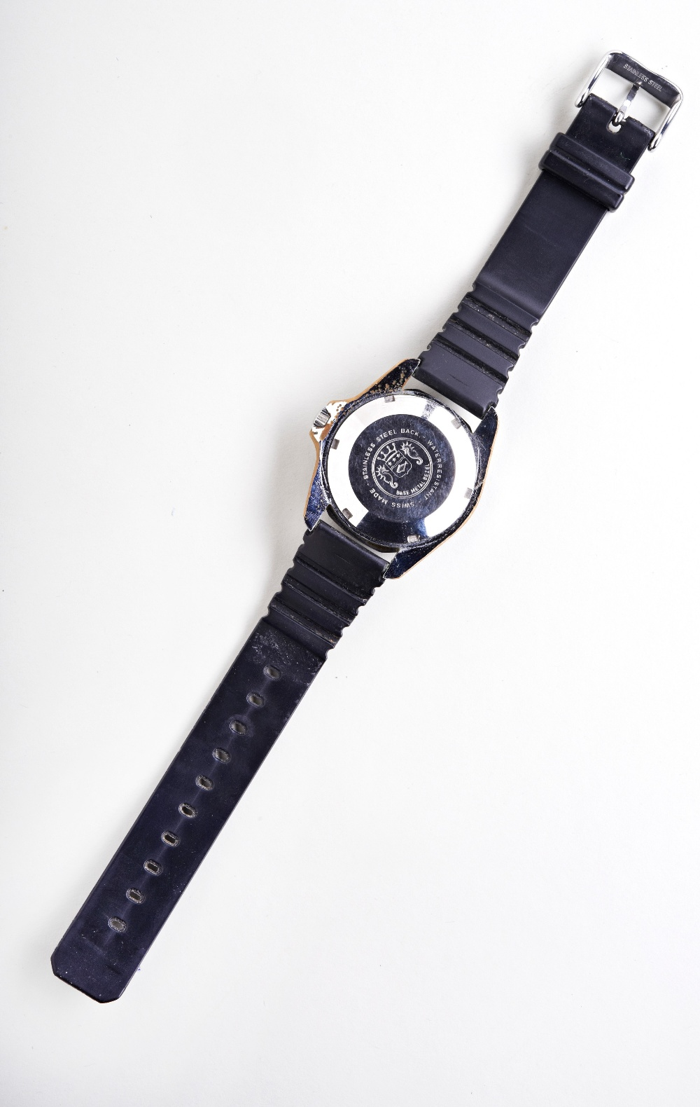 SICURA MARINE STAR AUTOMATIC STEEL 'DIVERS' WATCH, c1975, with rotating bezel, blue gradient dial - Image 3 of 3