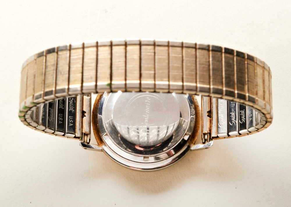 ETERNA MATIC GOLD-PLATED CENTENAIRE 61' BRACELET WRISTWATCH the champagne dial with baton numerals - Image 3 of 3