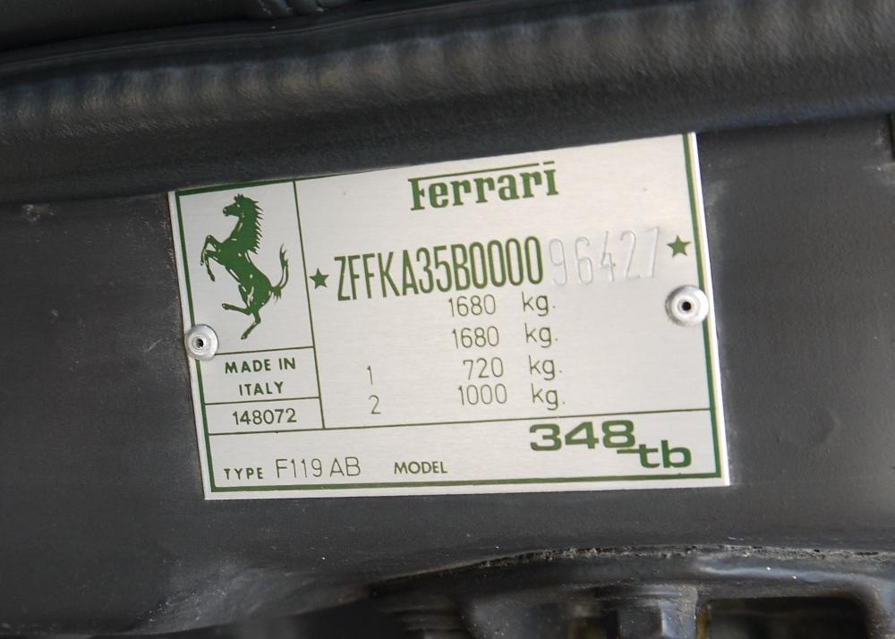 1993 FERRARI 348 TRASVERSALE BERLINETTA Registration Number: L796THC Chassis Number: - Image 41 of 49
