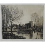 PEN & INK 'GORING ON THAMES', A. WATSON TURNBULL, monogrammed in bottom right corner and signed in